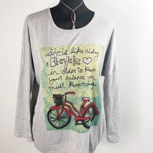 Tee shirt women's xl bicycle